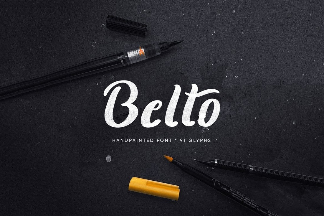Belto Font - Textured & Hand-Painted Font