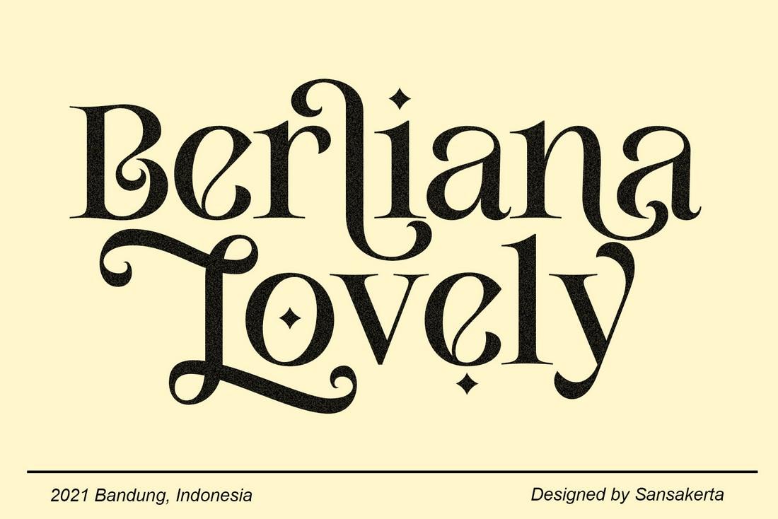 Berliana Lovely - Font Art Nouveau Gratis