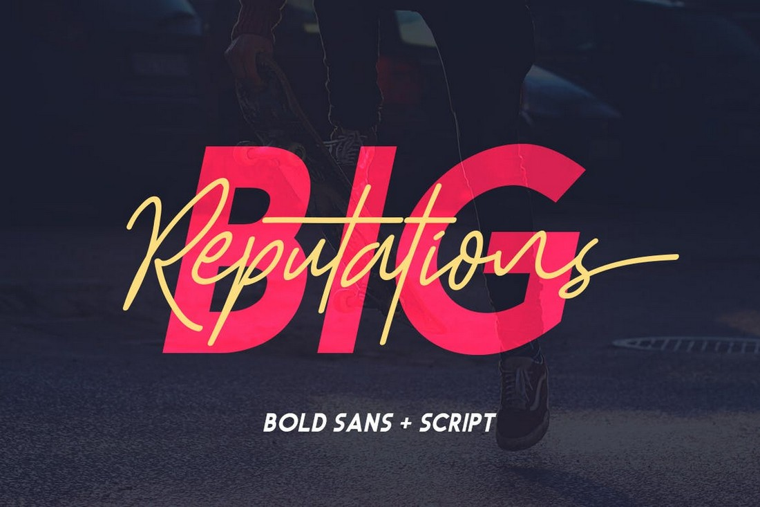 Big Reputation - Creative Font Duo