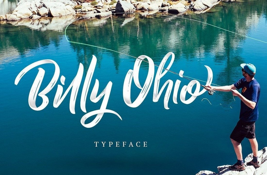 Billy Ohio - Free Brush Poster Font
