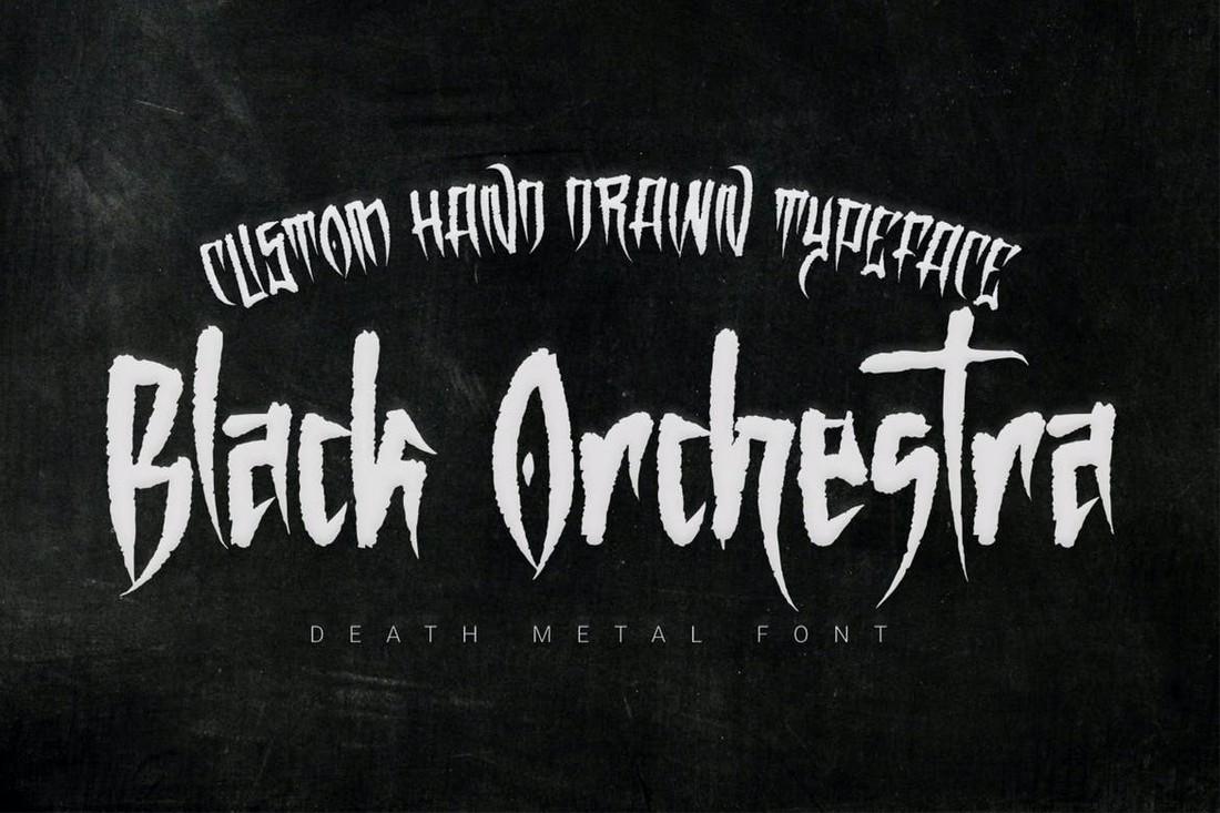 Orkestra Hitam - Font Heavy Death Metal