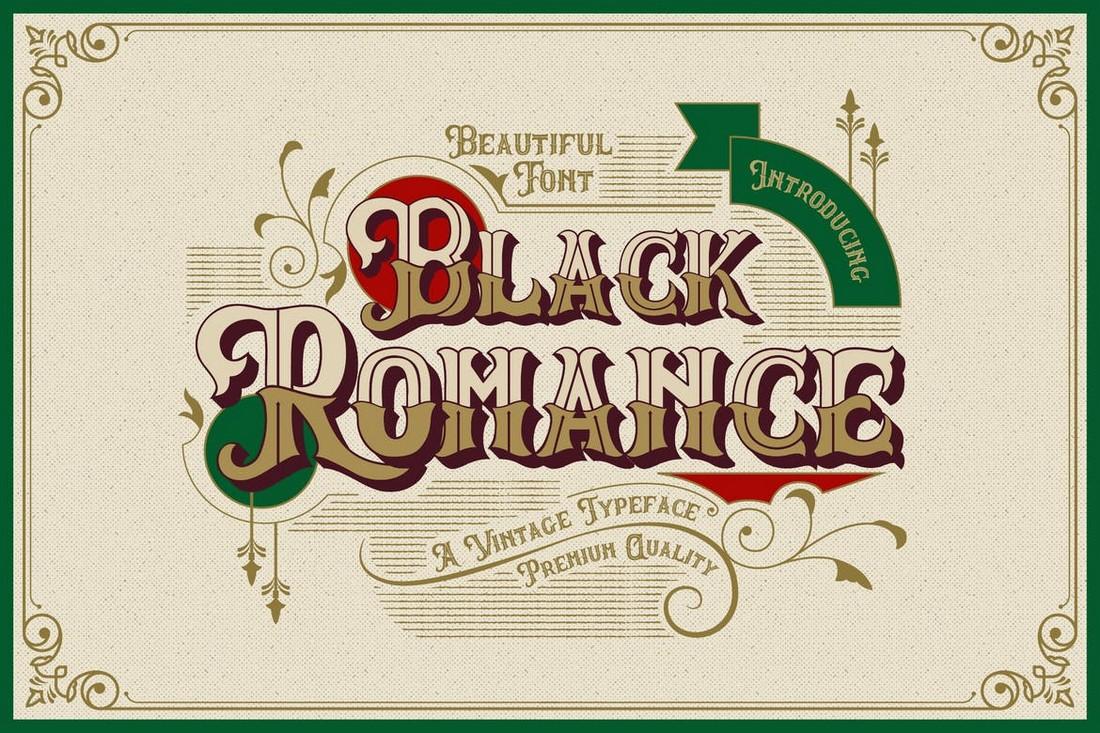 Black Romance - Vintage Blackletter Font