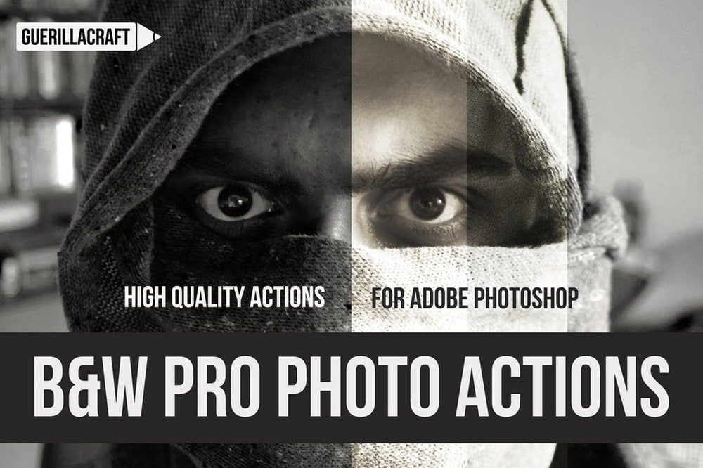 Black and White Professional PS Actions