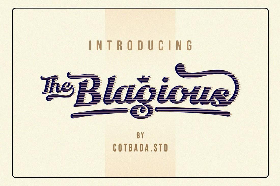 Blagious Bold Script Baseball Font