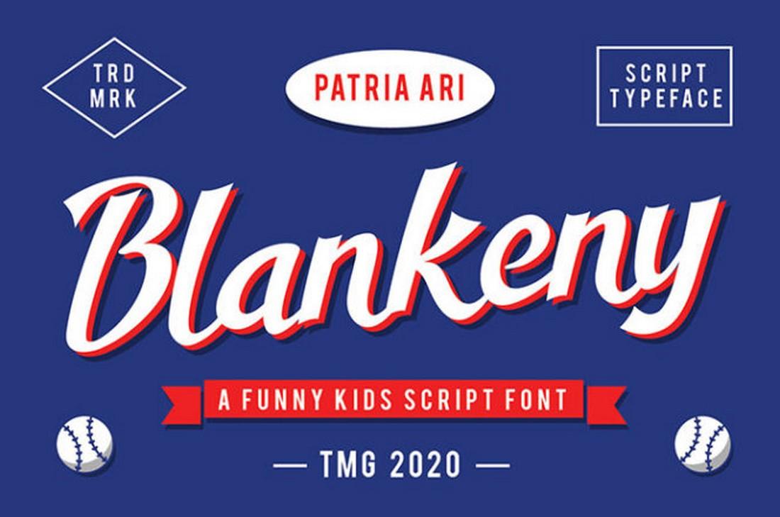 Blankeny - Free Baseball Font
