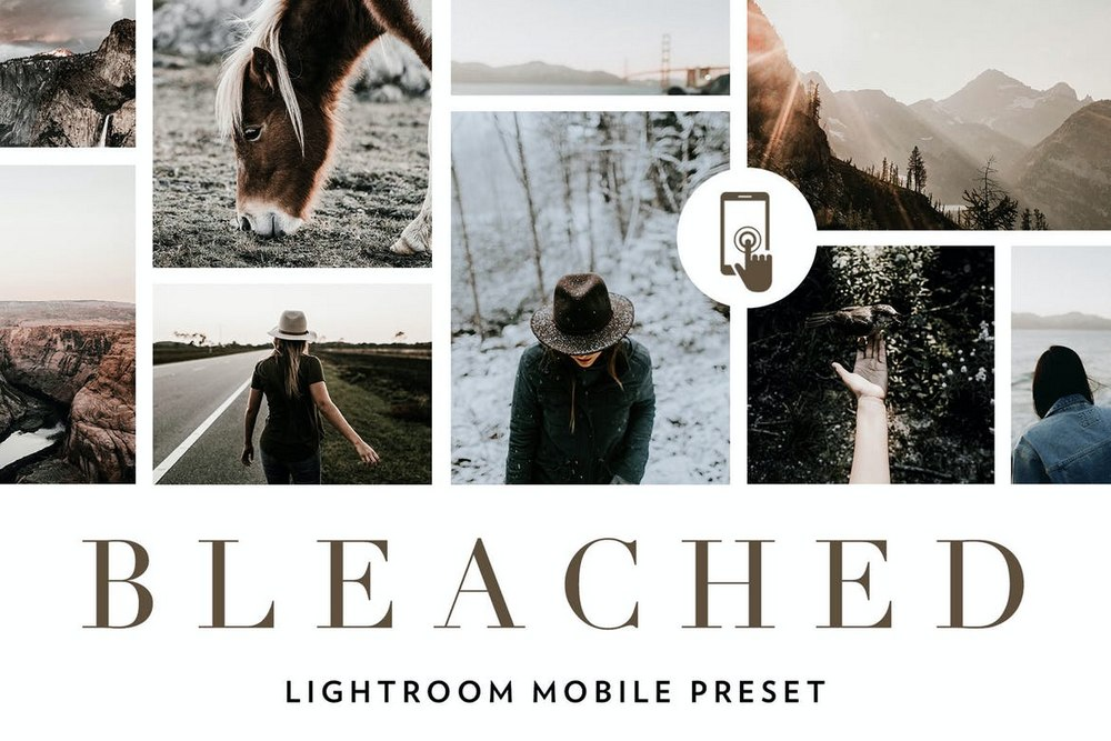 Bleached Lightroom Mobile Presets