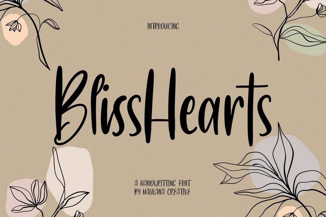 BlissHearts - Procreate Font Tulisan Tangan