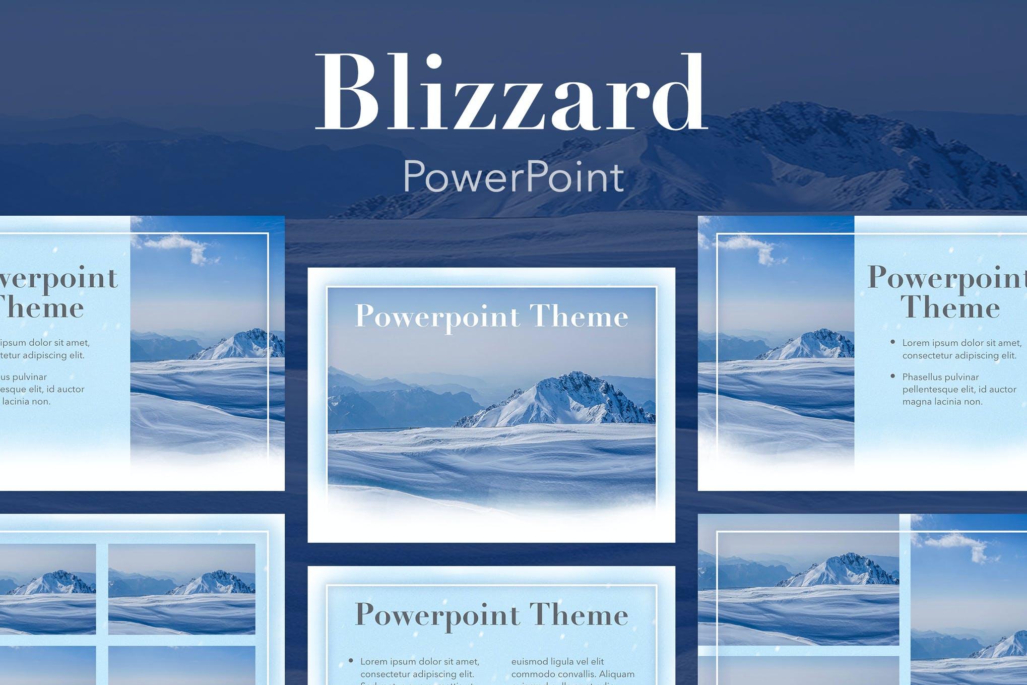 Blizzard PowerPoint Template