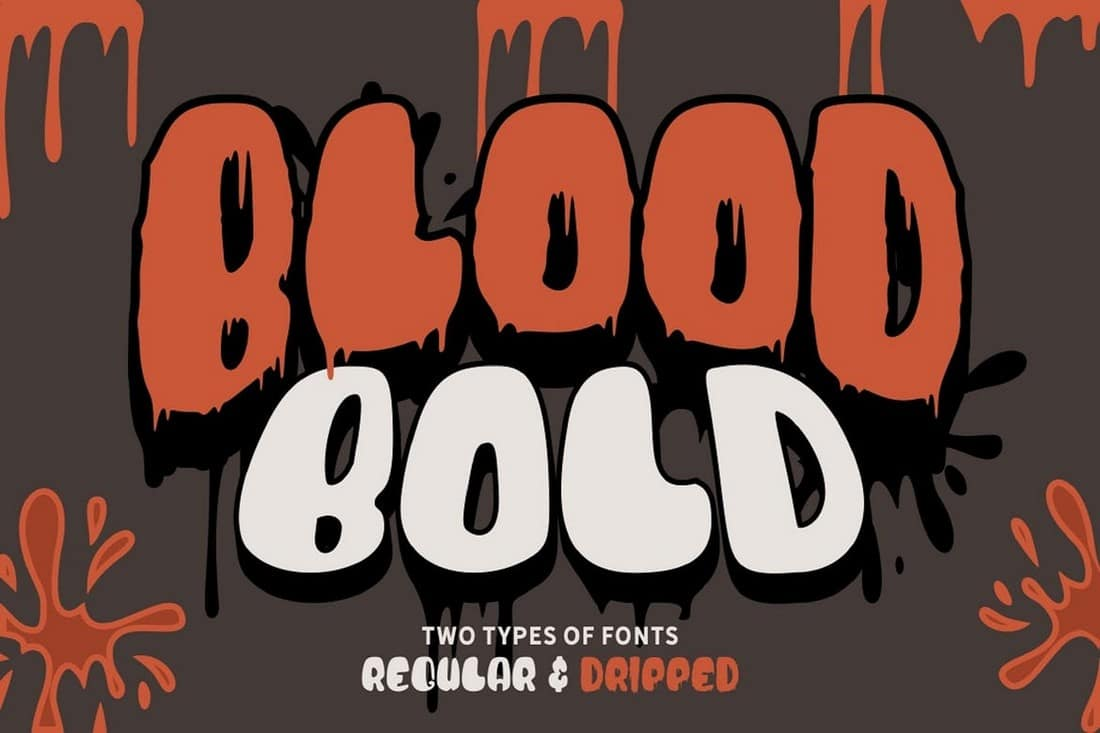 Blood Bold - Fun Halloween Fonts