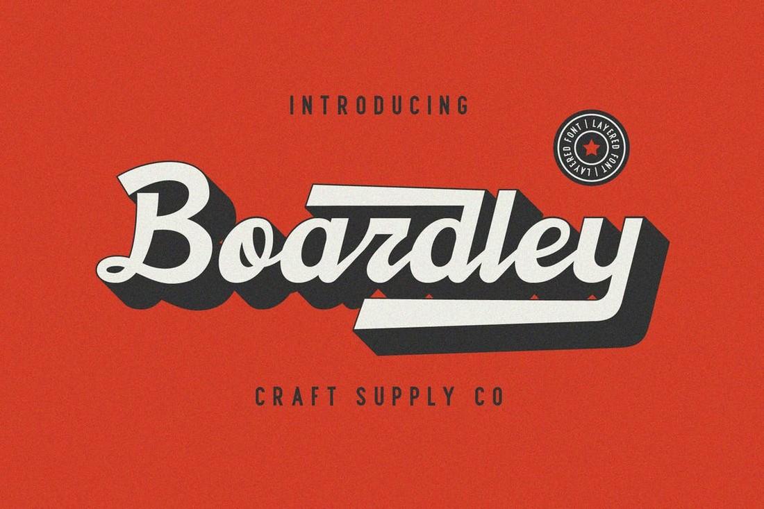 Boardley Script - Layered Baseball Font