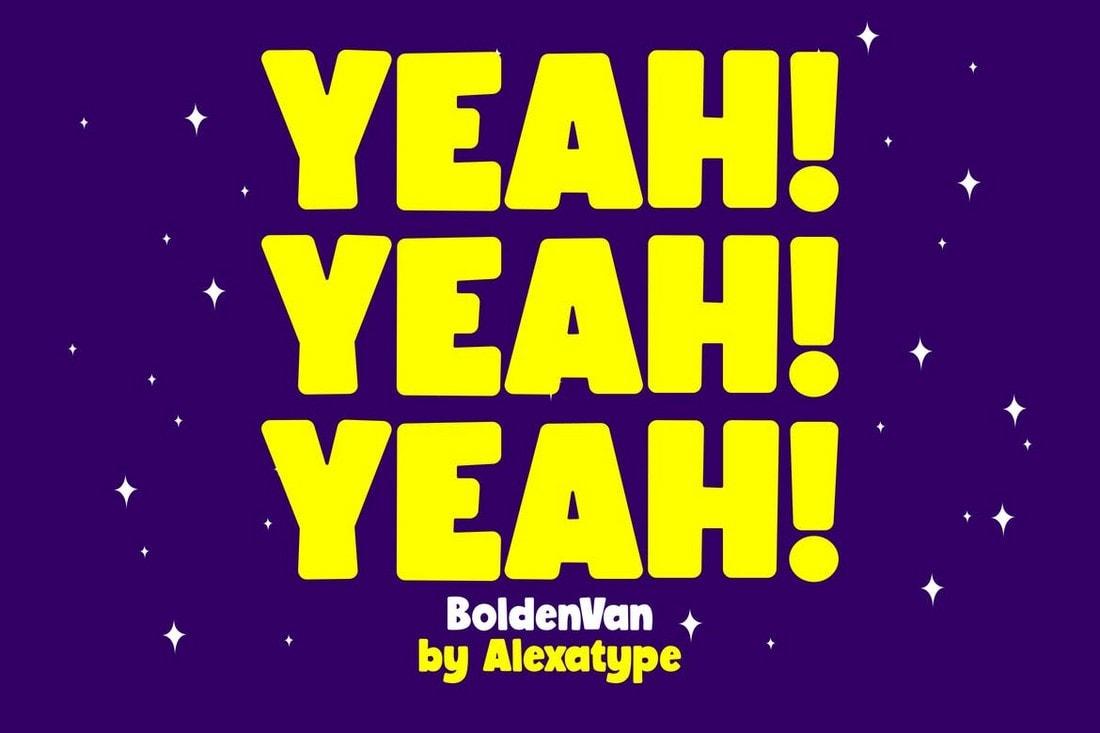 BoldenVan - Chubby & Fun Poster Font