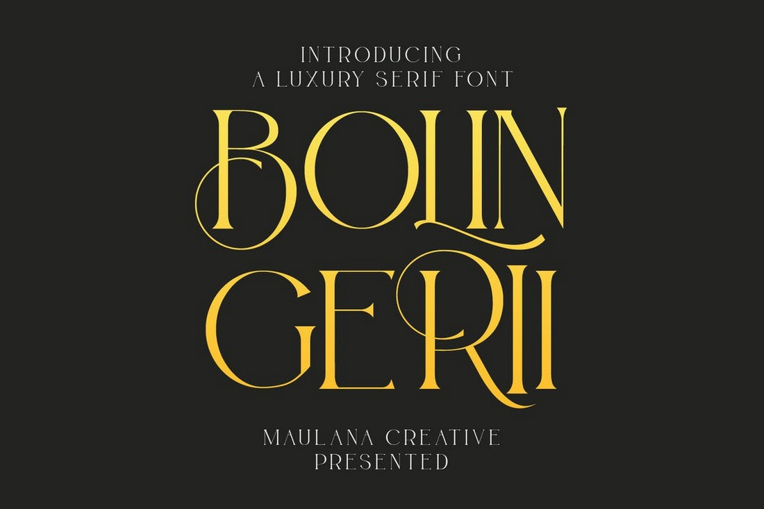 Bolin Gerii - Font Serif Art Nouveau Mewah