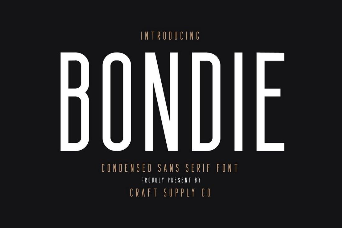 Bondie - Font Cricut Kental Sempit
