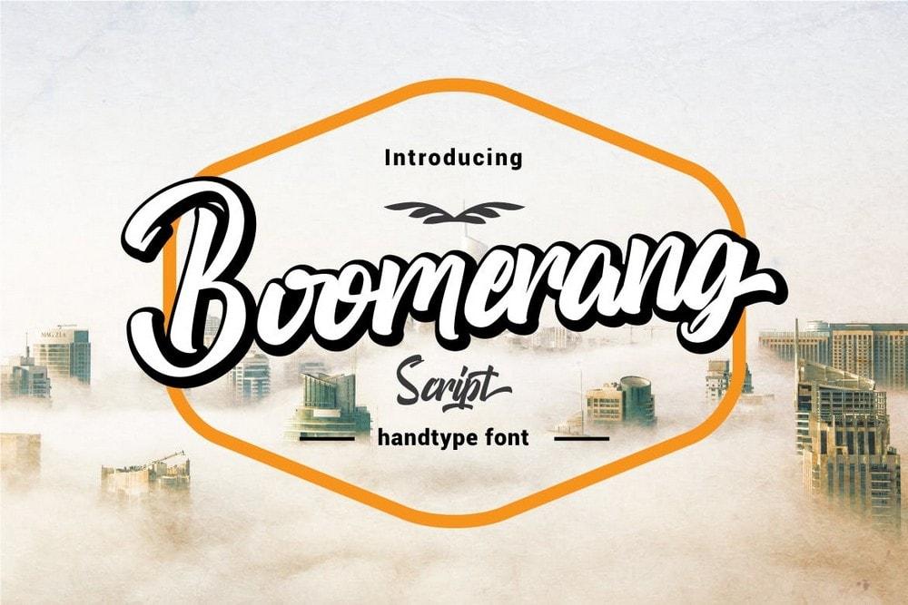 Boomerang - Stylish Script Logo Font