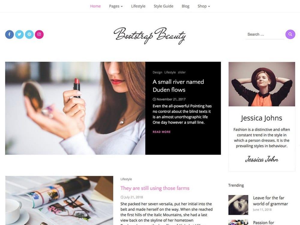 Bootstrap Beauty-free-wordpress-theme