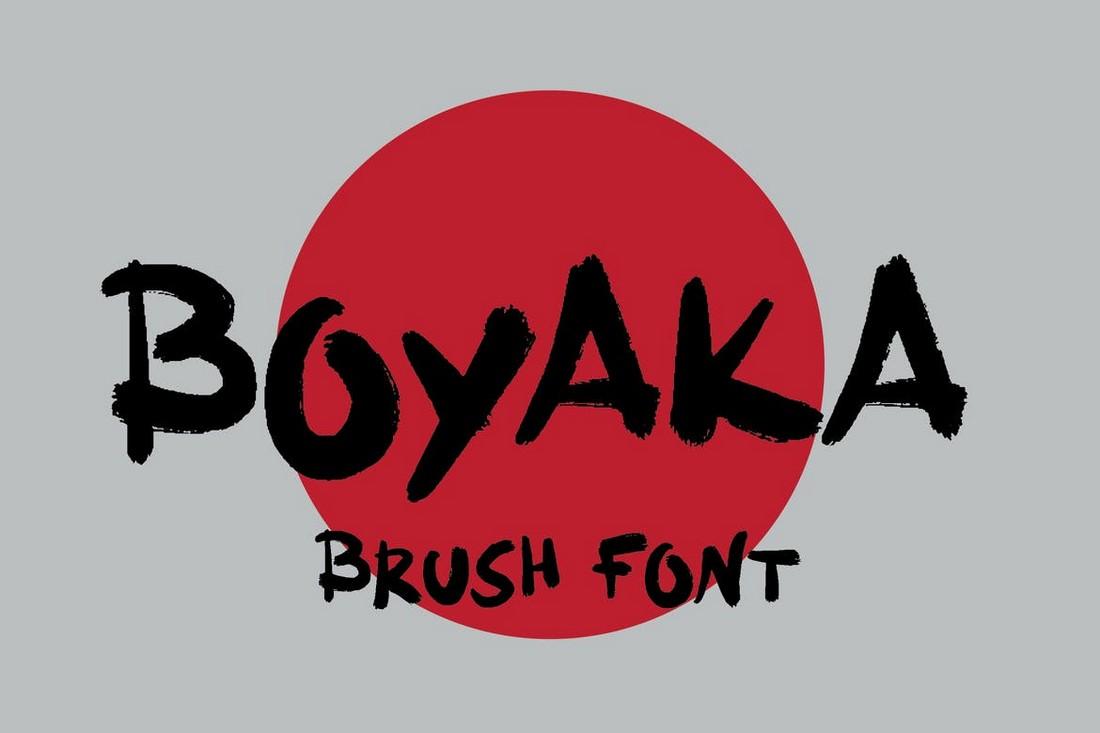 Boyaka - Font Kuas Jepang