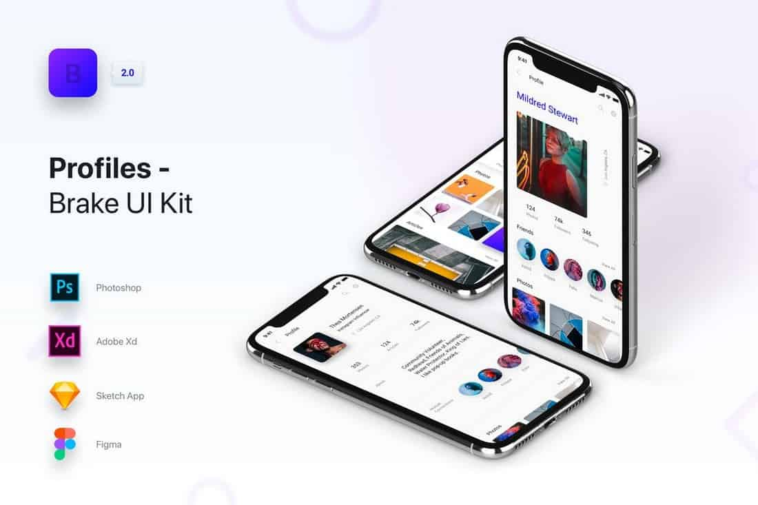 Brake UI Kit - User Profiles Templates