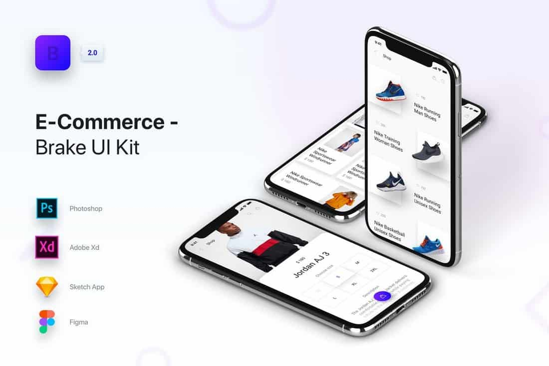 Brake UI Kit - eCommerce Shops & Store