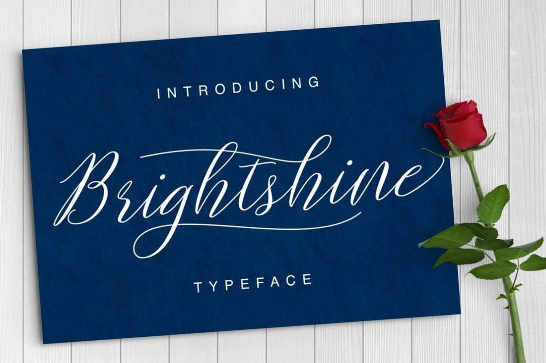 Brightshine - Classy Script Cursive Typeface