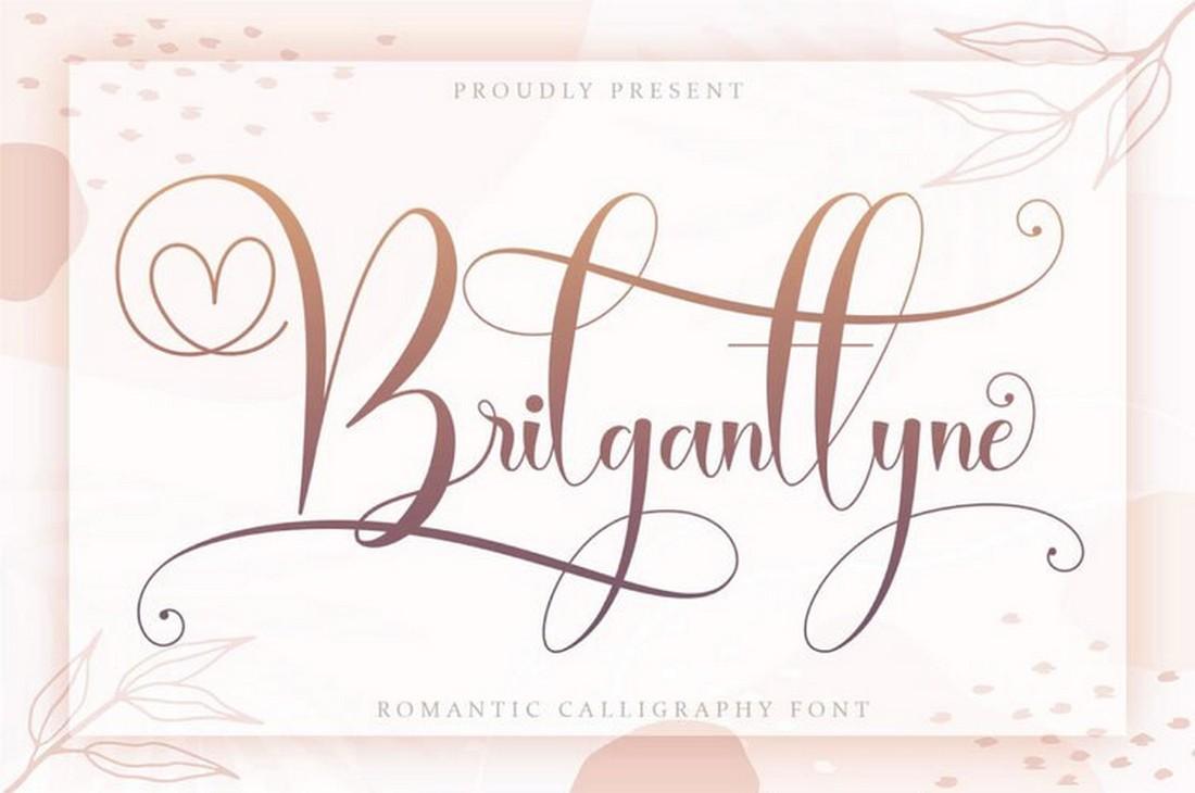 Brilganttyne - Font Kaligrafi Pernikahan Gratis