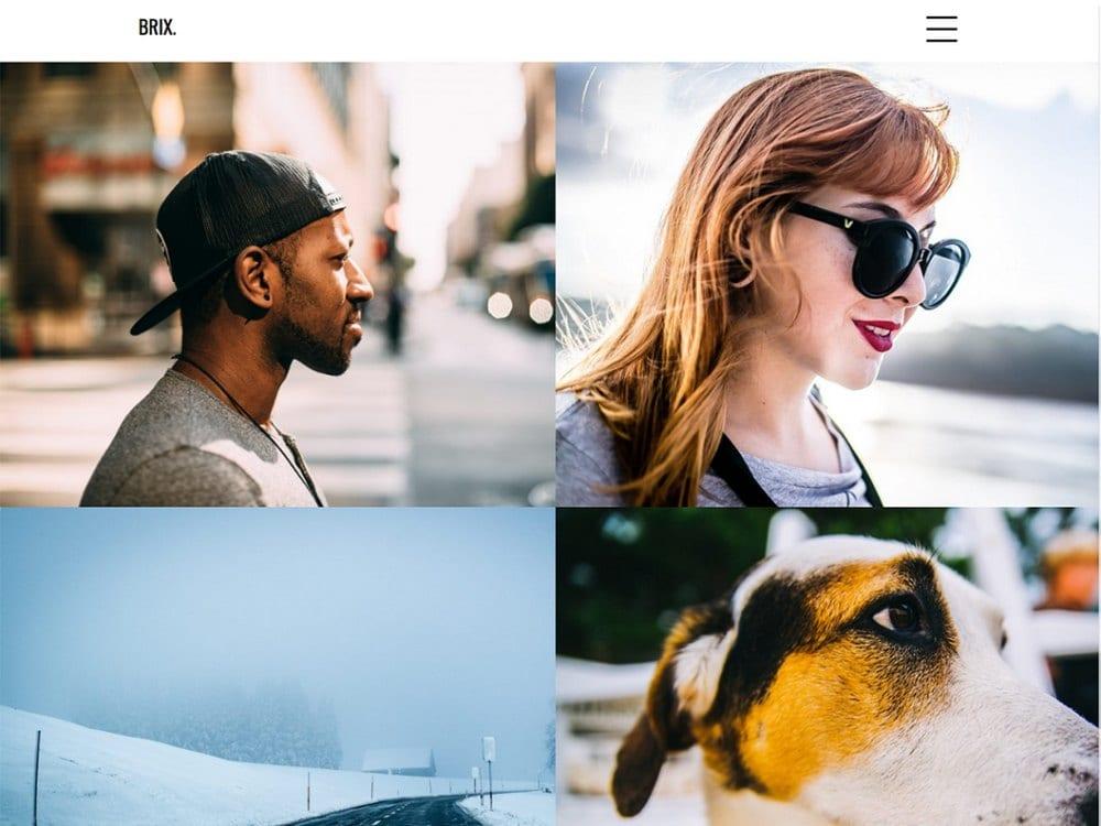 Portofolio Brix - Tema Fotografi WordPress Gratis