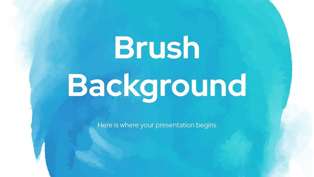 Latar Belakang Kuas - Template PowerPoint Seni Gratis
