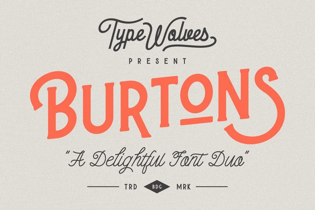 Burtons - Font Cricut Vintage