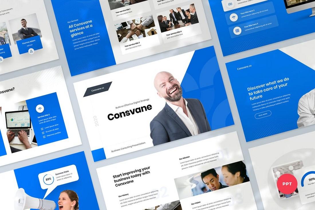 Templat PowerPoint Konsultasi Bisnis