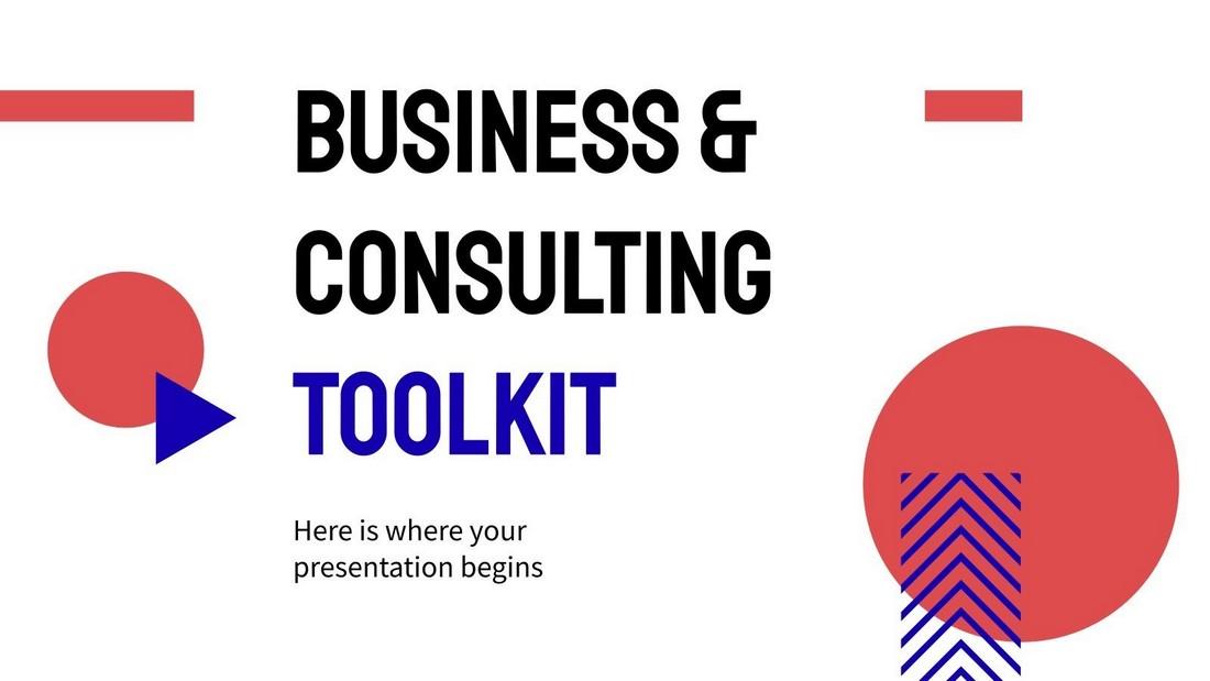 Templat PowerPoint Gratis Perangkat Bisnis & Konsultasi