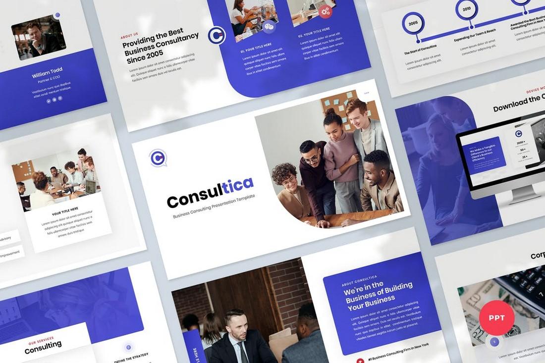 Templat PowerPoint Presentasi Kepemimpinan Bisnis