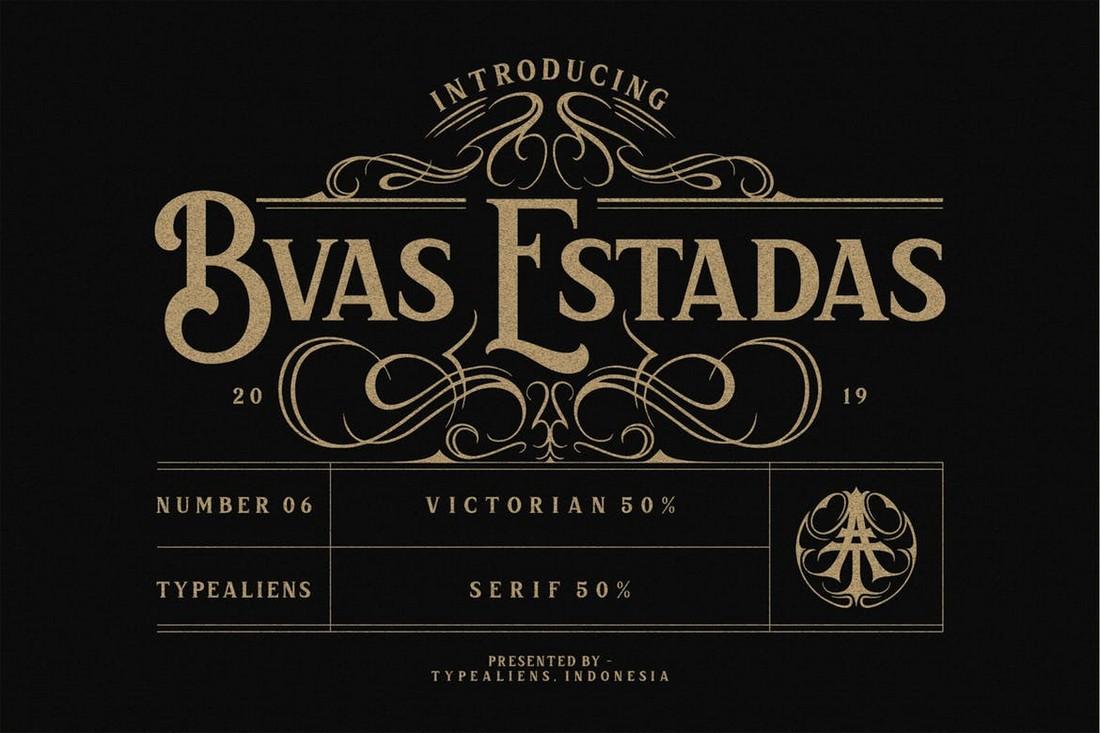 Bvas Estadas - Font Art Nouveau Vintorian