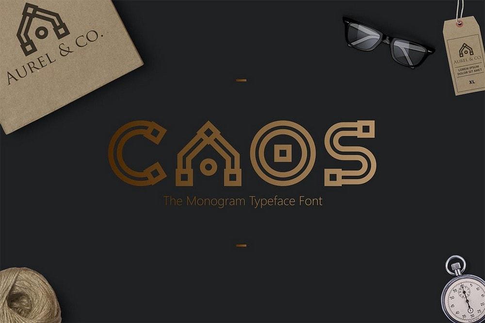 CAOS - Creative Logo Typeface