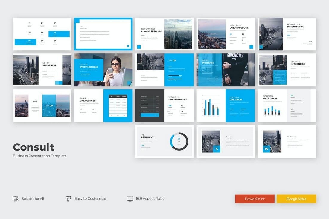 KONSULTASIKAN - Template PowerPoint Presentasi Kepemimpinan