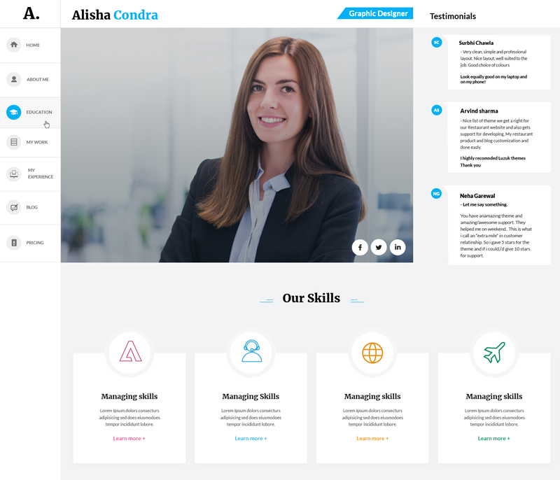 CV & Resume WordPress Theme-3