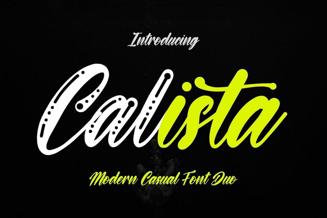 Calista - Casual Script Font Duo
