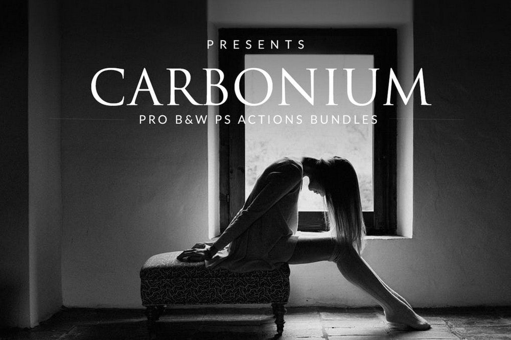 Carbonium - Black & White Photoshop Actions