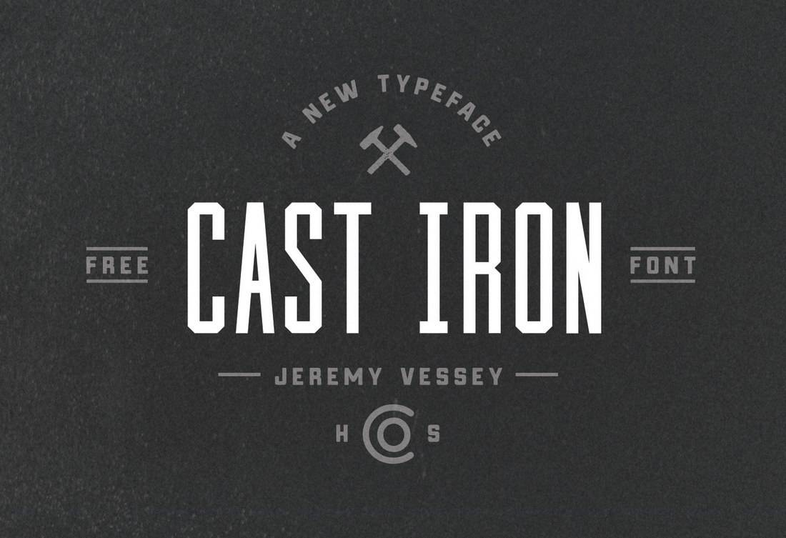 Cast Iron - Free Condensed Font