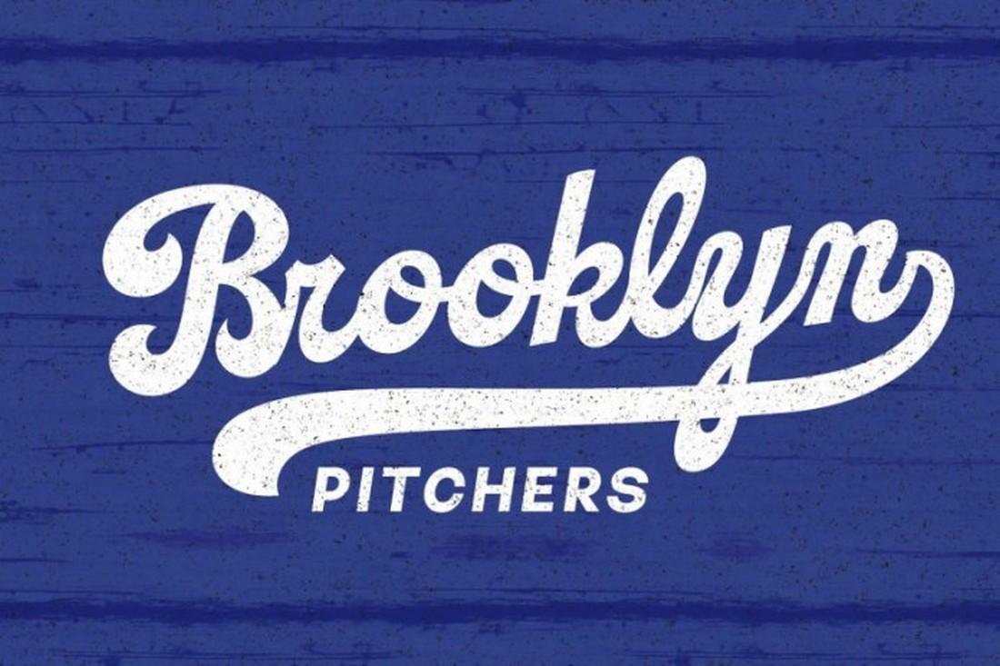 Catchland - Free Baseball Font