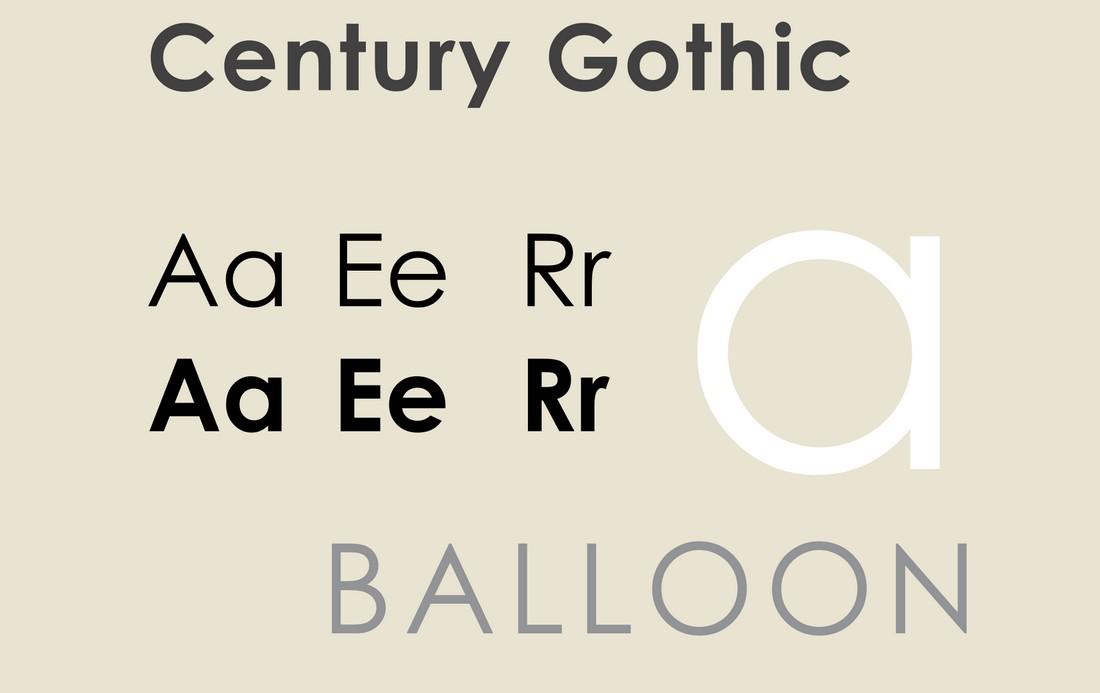 Font Century Gothic