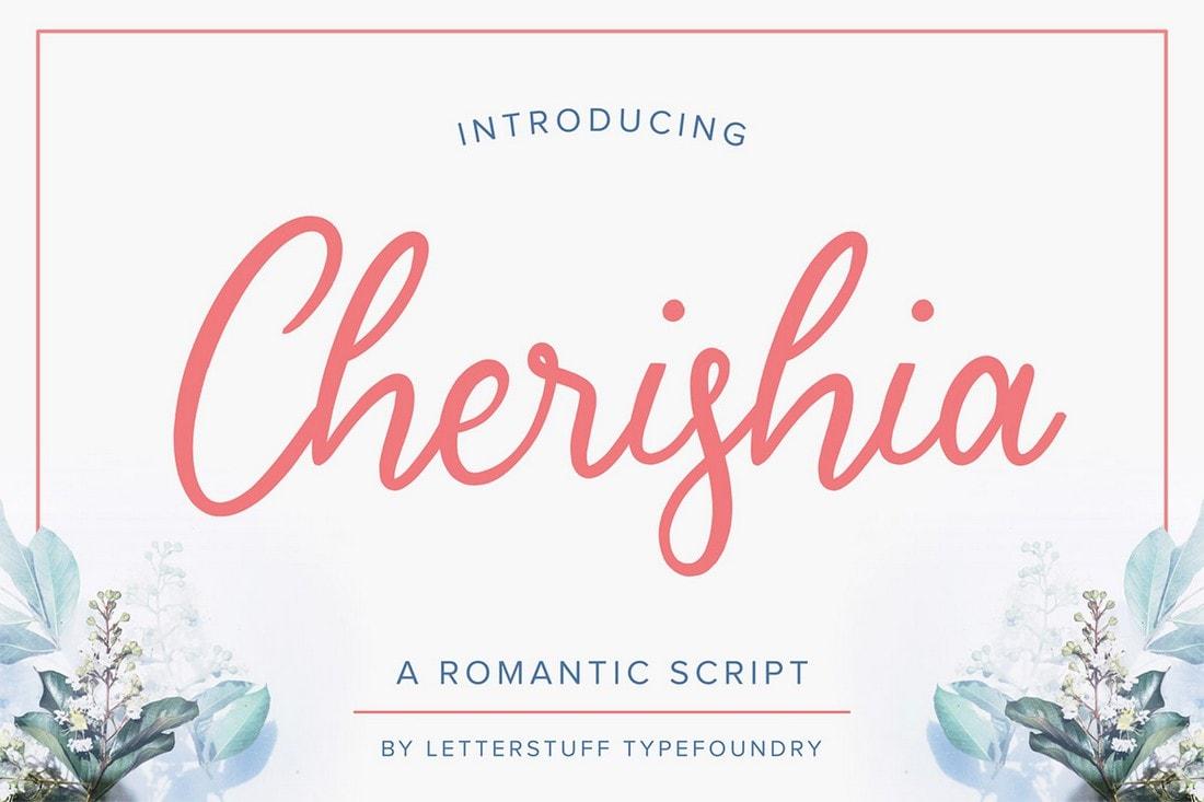 Cherisia - Free Romantic Script Font