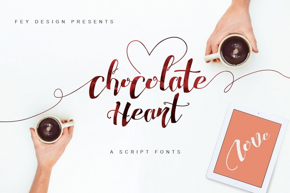 Chocolate Heart - Free Font For Wedding Invitations