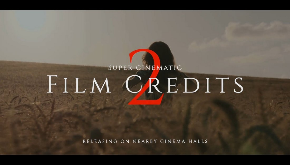Kredit Film Sinematik Premiere Pro Template