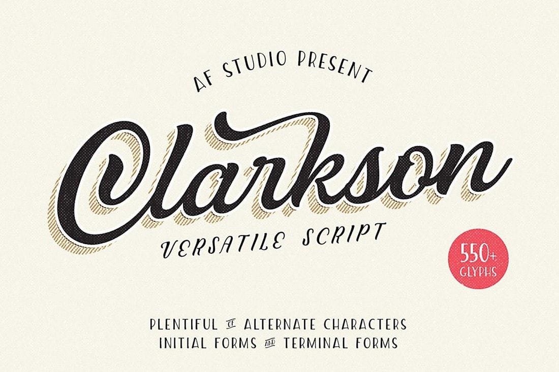 Clarkson - Vintage Script Font