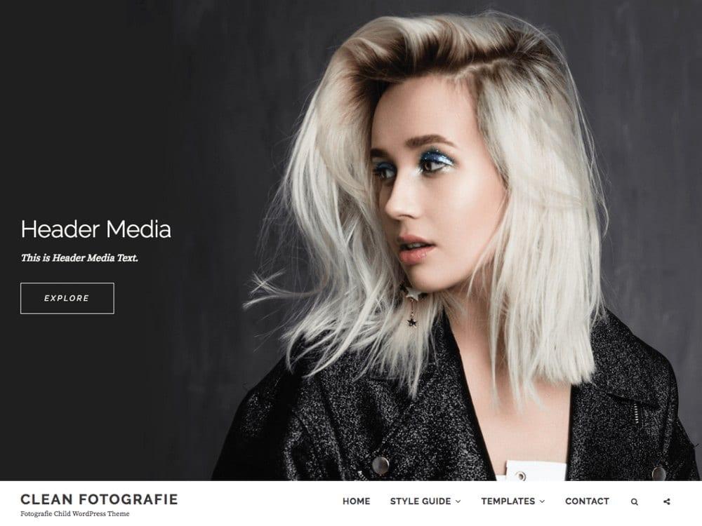 Clean Fotografie - Tema Fotografi WordPress Gratis