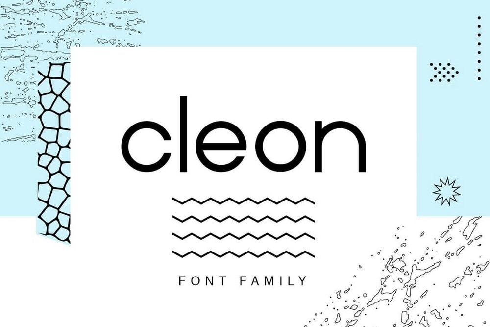 Cleon Sans - Minimal Font Family