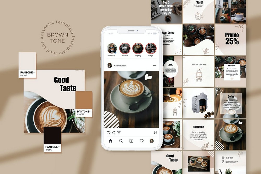 Coffee Shop - Instagram Grid Template