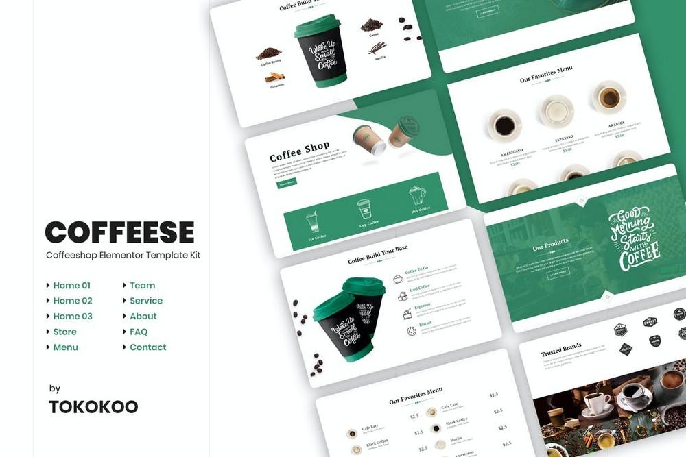 Coffesse - Coffee Shop Elementor Template Kit