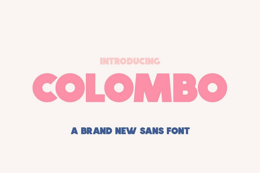 Kolombo - Font Sans Tebal untuk Cricut