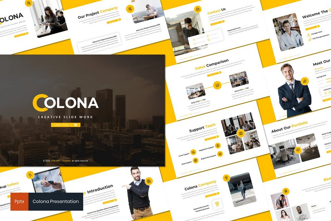 Colona - Business Powerpoint Template