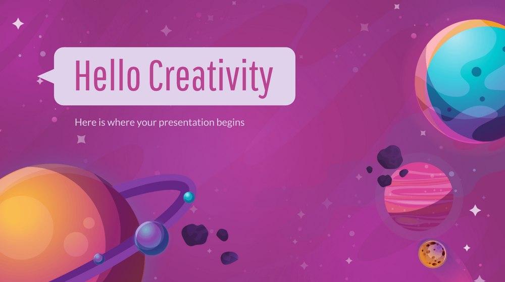 Colorful Galaxy - Free Presentation Template